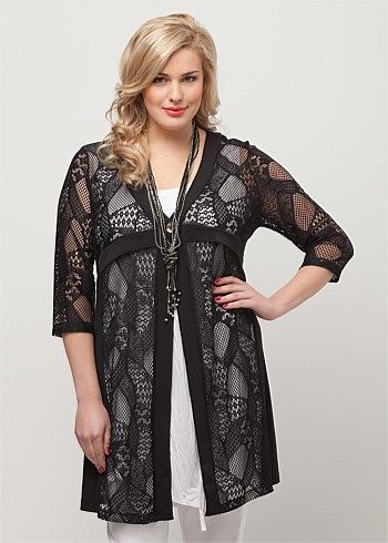Big Sizes Womens Clothing | Clothes for Larger Size Women - DRAW THE LINE CARDY - TS14