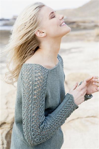 1505: Design 14 Genser med mønster på ermer #Line #bomull #cotton #lin #linen