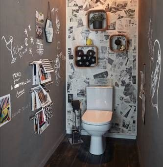 best 25 toilettes deco ideas on pinterest toilets wall. Black Bedroom Furniture Sets. Home Design Ideas