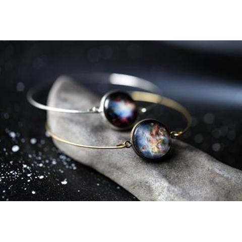 Galaxy Cuff Bracelet With Carina Nebula