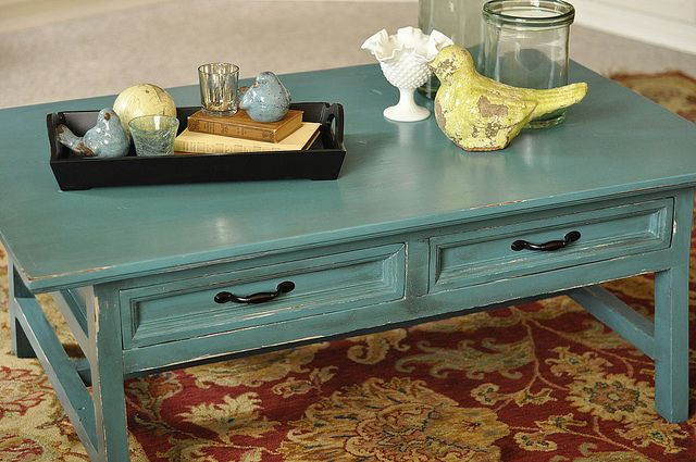 Furniture painting teal