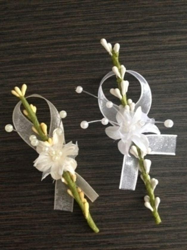 Hochzeitsanstecker Gäste edler Anstecker Ginster 2014