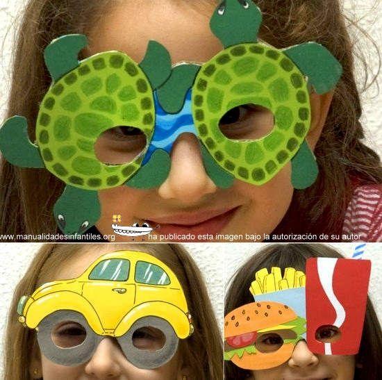 gafas de cartulina divertidas: http://www.manualidadesinfantiles.org/gafas-de-carnaval