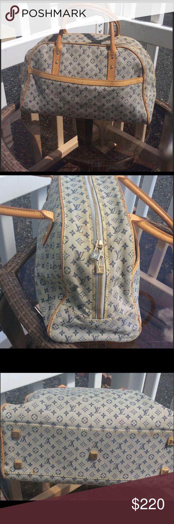 Authentic Louis Vuitton Bag Authentic Louis Vuitton Navy Mini Lin Canvas Josephine GM Bag. Vintage. Louis Vuitton Bags