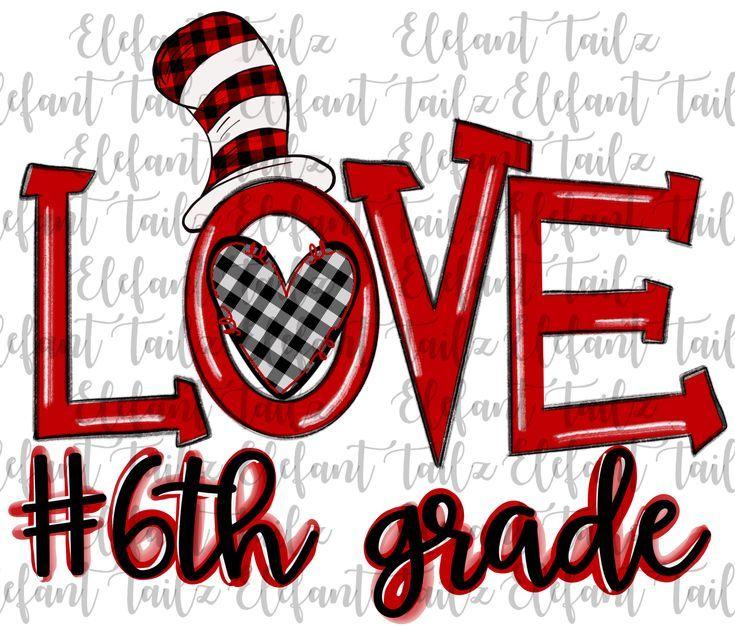 Cat hat love 6th grade in 2020 clip art love math seuss