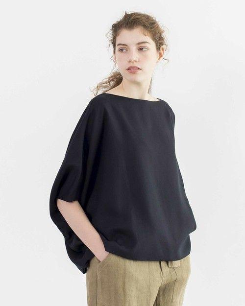 Traditional Weatherwear(トラディショナルウェザーウェア)の「ビッグ ショート トップ(Tシャツ/カットソー)」 ネイビー