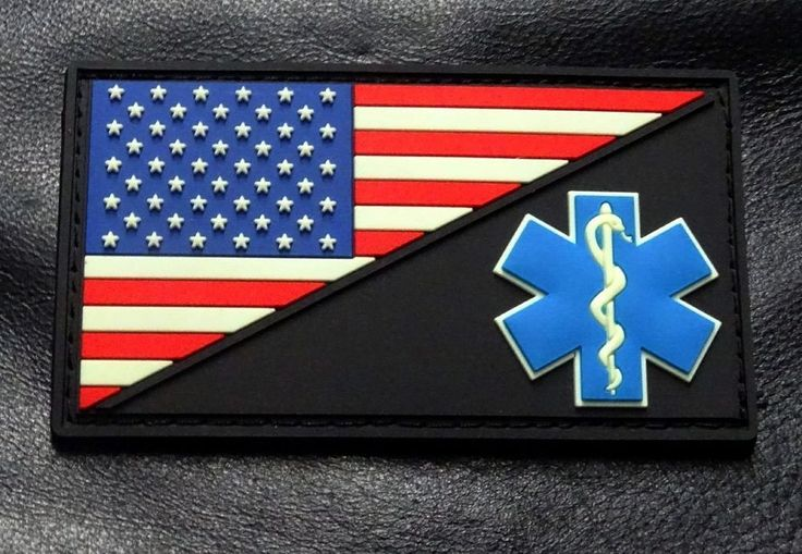 EMT USA Flag Medic Ems Paramedic Morale PVC Rubber Hook Patch (PVM1) | Collectibles, Militaria, Current Militaria (2001-Now) | eBay!
