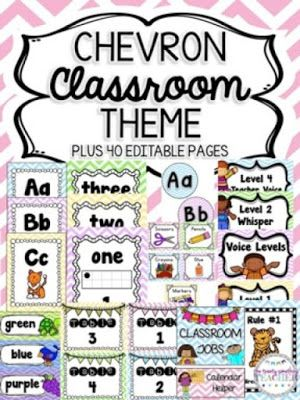 Chevron Classroom Theme FREEBIE by the Twenty Something Teacher