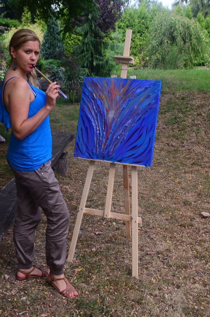 The painting 'Flowing Spirituality' was painted in Vedic Art process that I am teaching. Interested to buy or get a lesson, write for more info on vedicartacademy@wp.pl