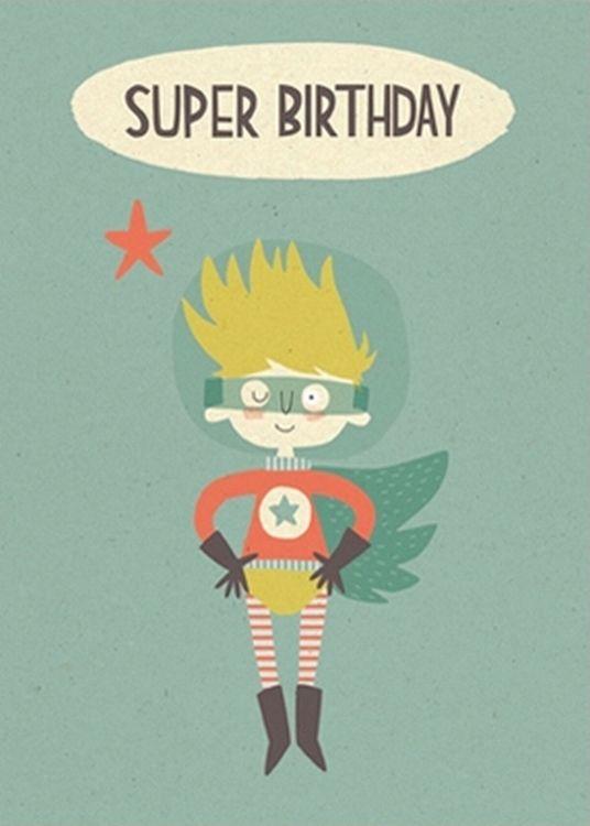 #Card Super #Birthday dubbele wenskaart from www.kidsdinge.com www.facebook.com/pages/kidsdingecom-Origineel-speelgoed-hebbedingen-voor-hippe-kids/160122710686387?sk=wall http://instagram.com/kidsdinge #Kidsdinge #Toys #Speelgoed