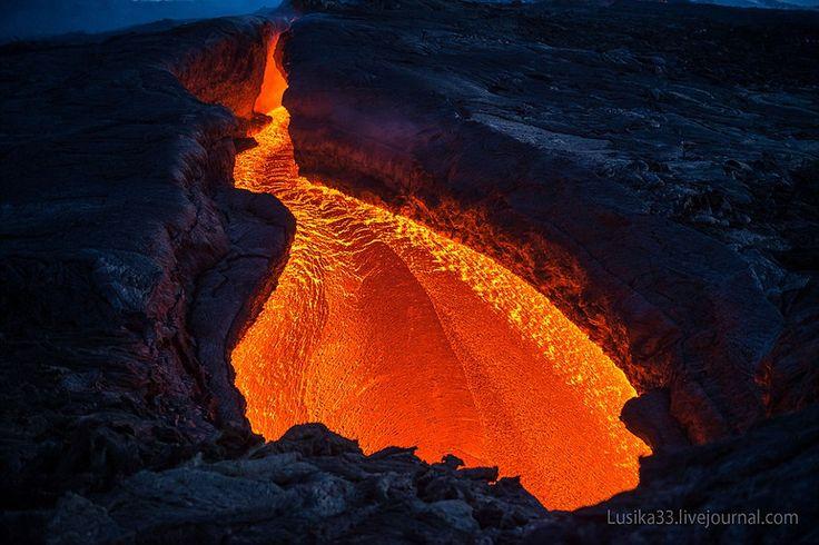 Le volcan Tolbachik en éruption
