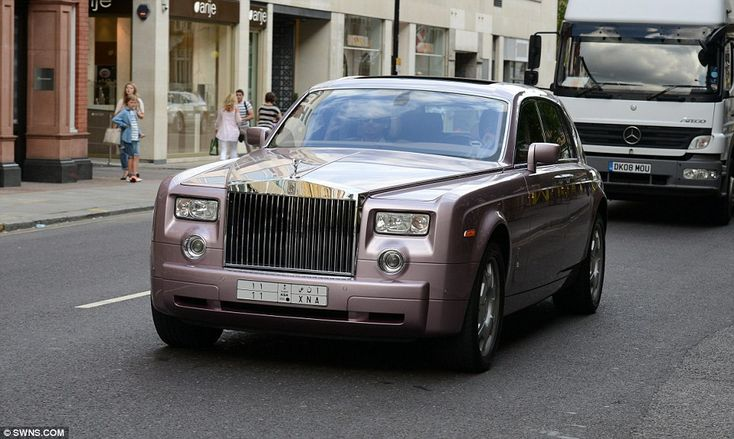 A pink-tinged £350,000 Rolls Royce with Saudi number plate was seen driving through west London yesterday as part of the now-annual influx of Arab-owned cars
