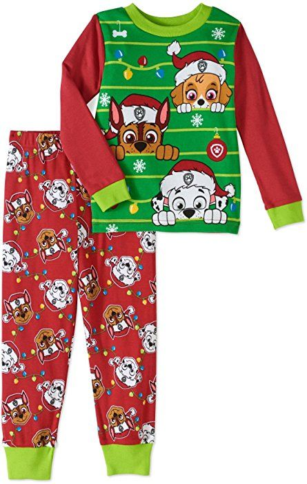 Amazon.com  Paw Patrol Little Boys Girls Toddler Christmas Pajama Set (4T)   Clothing da4bf0661