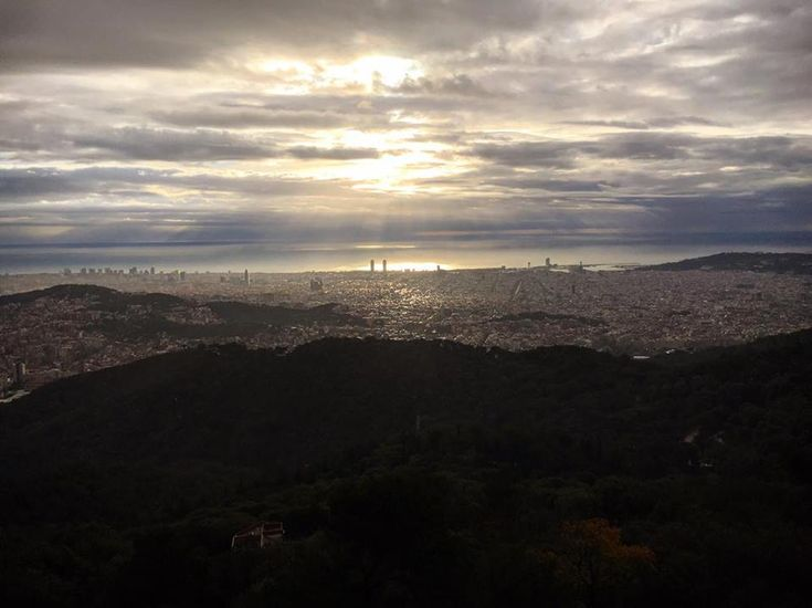 Morning view from Gran Hotel La Florida Hotel in Barcelona