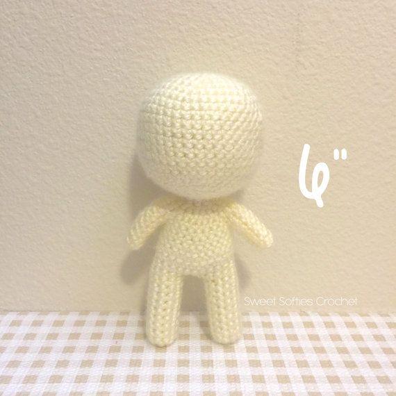 """6"""" Base de muñeca Chibi - Amigurumi Crochet patrón personalizado niño…"""