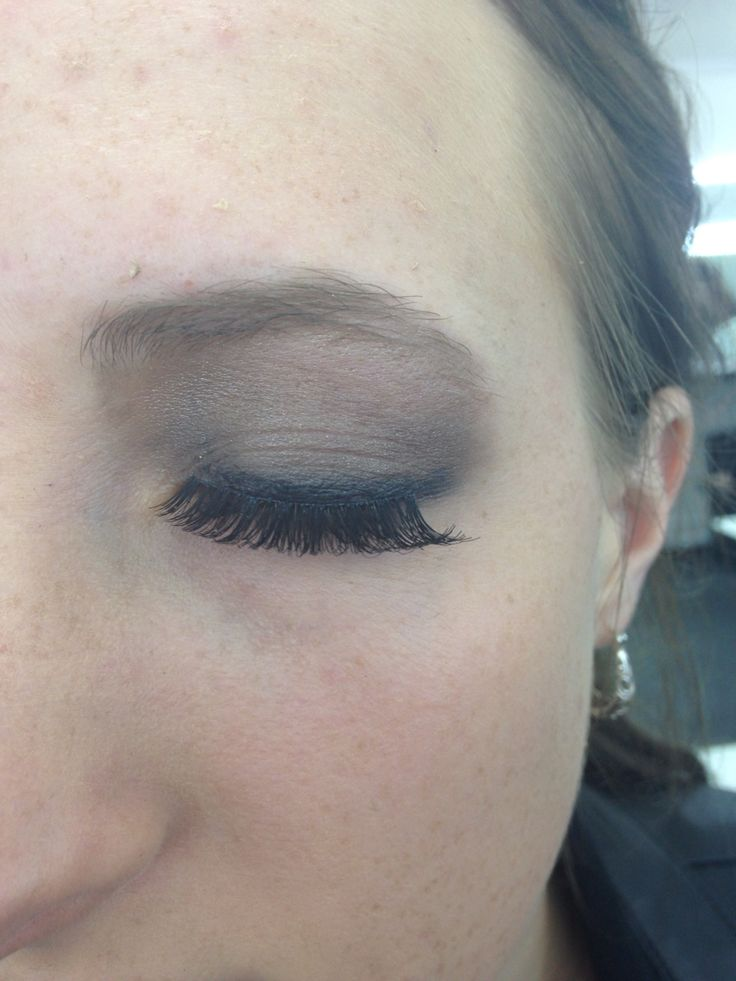 Right eye smokey eye