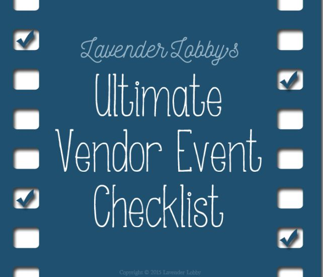 Ultimate Vendor Checklist with a focus on Young Living members but solid for any type of vendor