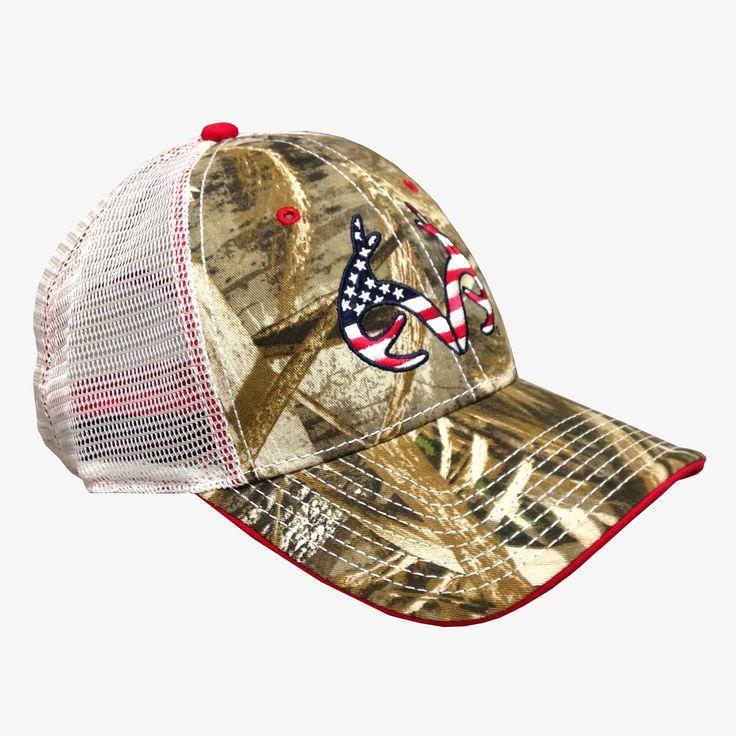Realtree Max5 Flag Antler Trucker Cap Back | Wearables | Hats, Cap, Baseball hats