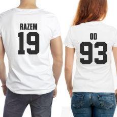 Komplet koszulek personalizowanych ROCZNICA idealny na urodziny
