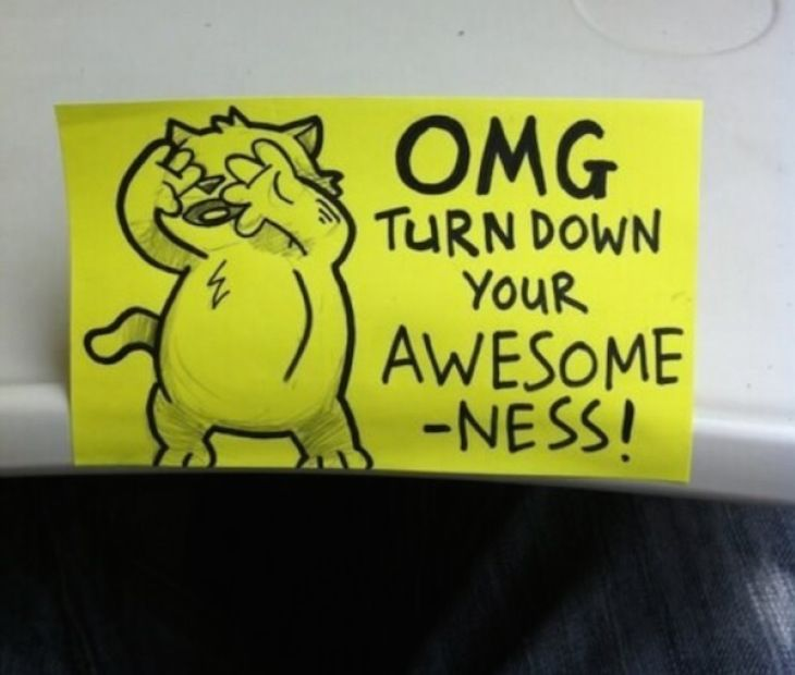 Motivational Post-It Notes from Awesome Cat