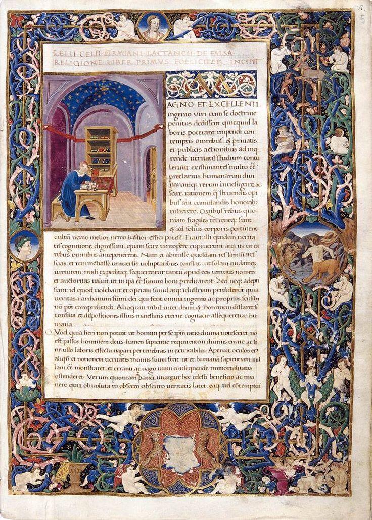 Frontispiece 1465-70 Tempera and gold on parchment, 341 x 244 mm Biblioteca Comunale degli Intronati, Siena