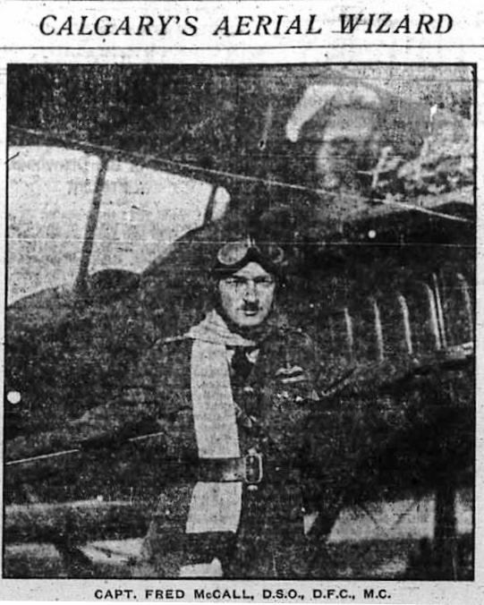 Captain Fred McCall, founder of the Bowness Flying Field, June 1919. Click to read the story of Calgary's first commercial airport.