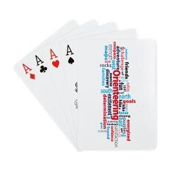 Orienteering Playing Cards.