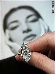 A diamond ring that belonged to Maris Callas