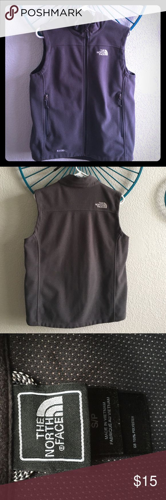 Men's size small gray North Face fleece vest Great condition North Face fleece vest. As a size small/medium woman this best fit me as well. Message me with any questions or for additional pictures. North Face Jackets & Coats Vests