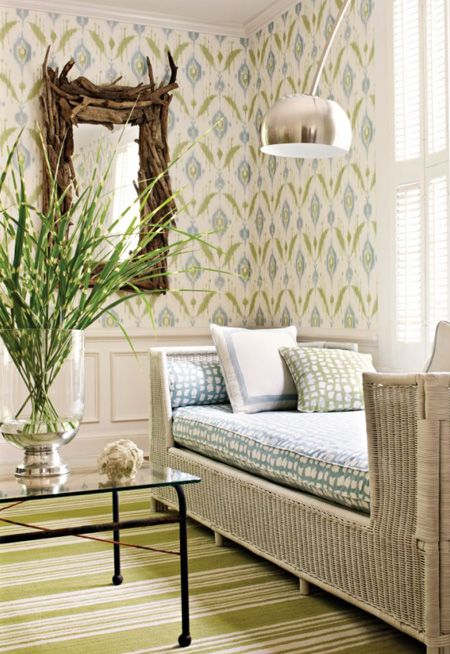 Wallpapers For Spring | House & Home  I'm loving many of the patterns and colours from Thibaut, sold in Canada through Crown Wallpaper & Fabrics and Kravet. Why not try some of these looks on for size?