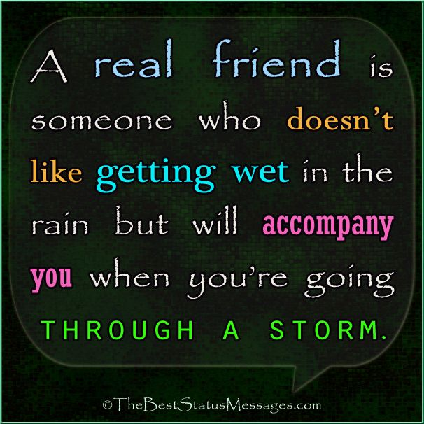 A real friend - friendship quote