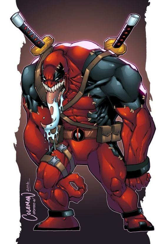 Venom/ Deadpool mashup