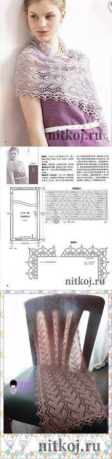 Палантин от китайских мастериц » Ниткой - вязаные вещи для вашего дома, вязание крючком, вязание спицами, схемы вязания