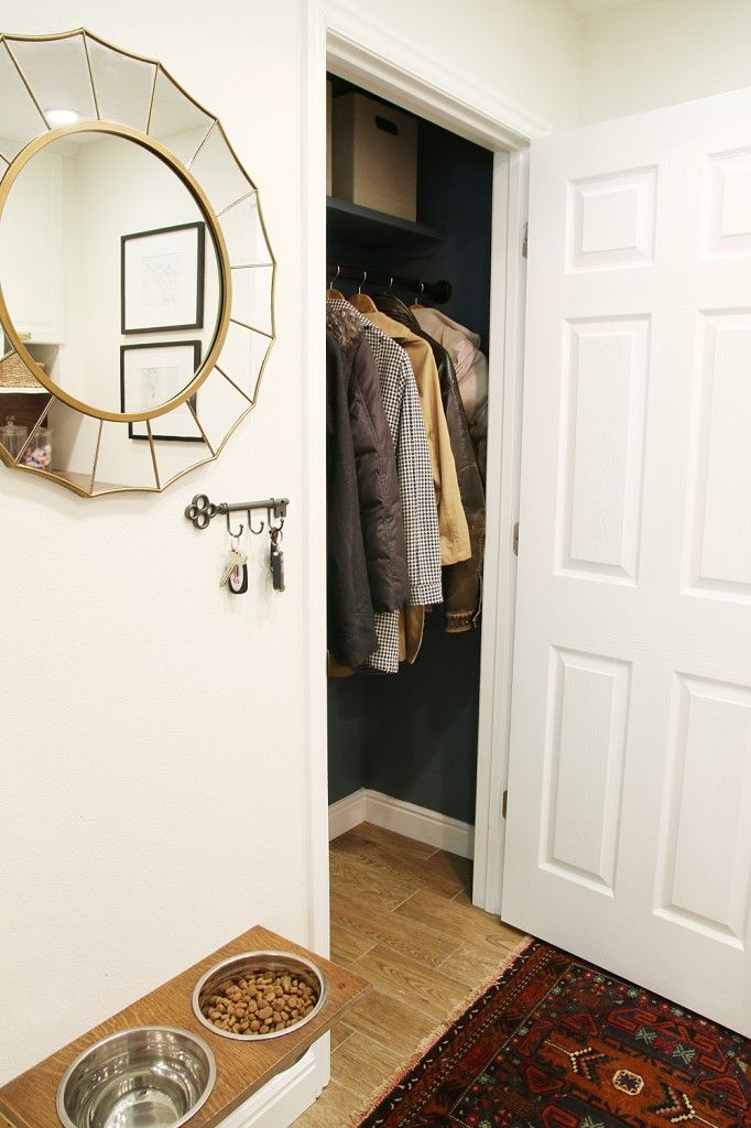Before & After: We have a (Finished!) Coat Closet! | Chris Loves Julia