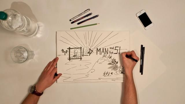 Watch a book come to life through pictures. An incredible hand-drawn stop-motion version of 'The Old Man and the Sea.'
