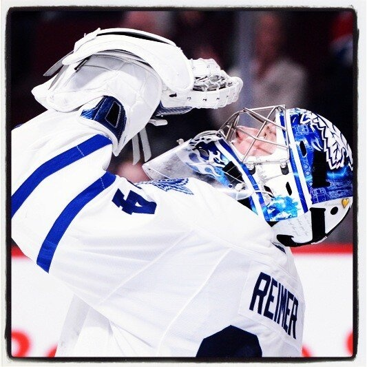 Reimer after the Leafs defeat the Habs 6-0, Feb 9, 2013.  Toronto Maple Leafs (MapleLeafs) on Twitter