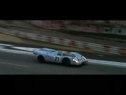Steve McQueen in the 1971 movie Lemans.  Everyone else I know hates this movie; I love it...!!