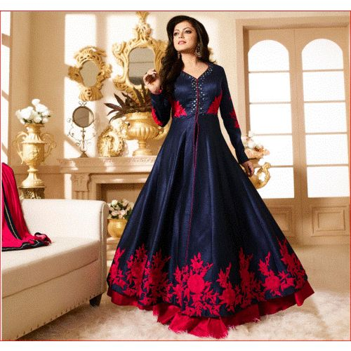 Buy Lt 90001 Blue online, Latest Lt 90001 Blue by D.s.cotton House   latest Dresses, Gowns and Kaftans Shopping online at Craftsvilla