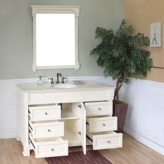 Photo On Bellaterra Home Cream White Bathroom Vanity Overstock Shopping The Best Deals on