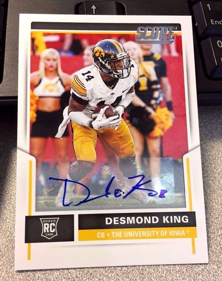 2017 Score  DESMOND KING AUTO SP RC  Iowa Hawkeyes Chargers Panini Football