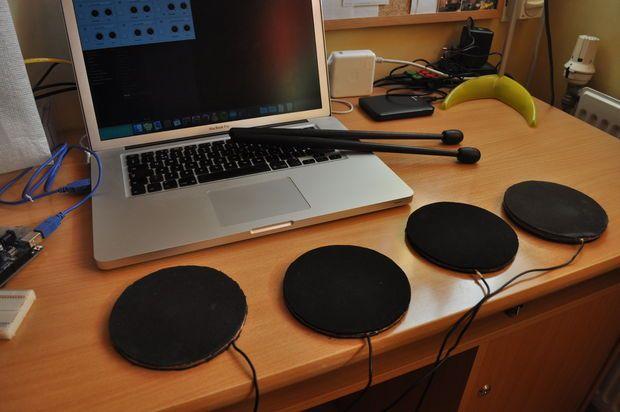 Picture of MIDI Arduino Drums