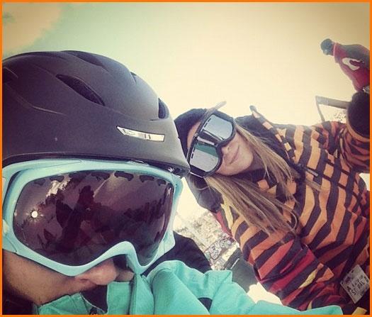 Carlos Pena And Alexa Vega Go Snowboarding This Weekend