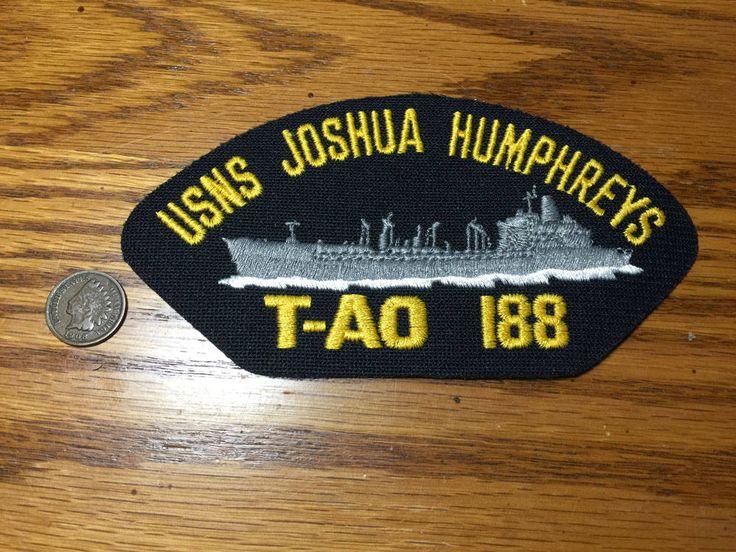 USNS Joshua Humphreys T-AO 188 Fleet Oiler Ship Military US Navy Hat Patch by PickledPterodactyl on Etsy