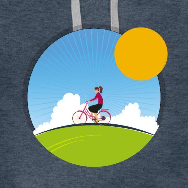 Girl On The Bicycle Women S Premium Hoodie Bicycle Women Bicycle Design Kids Bicycle