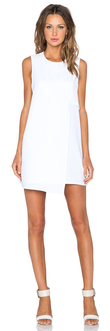Perfection: the asymmetrical shift dress in white. by FIFTEEN TWENTY
