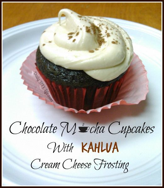 Here it is folks! The BEST cupcake #recipe I've ever made! Chocolate Mocha Cupcakes with Kahlua Cream Cheese Frosting - dailydiylife.com