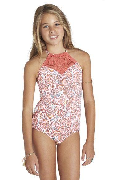 Billabong Sea Side One-Piece Swimsuit (Little Girls & Big Girls) | Nordstrom