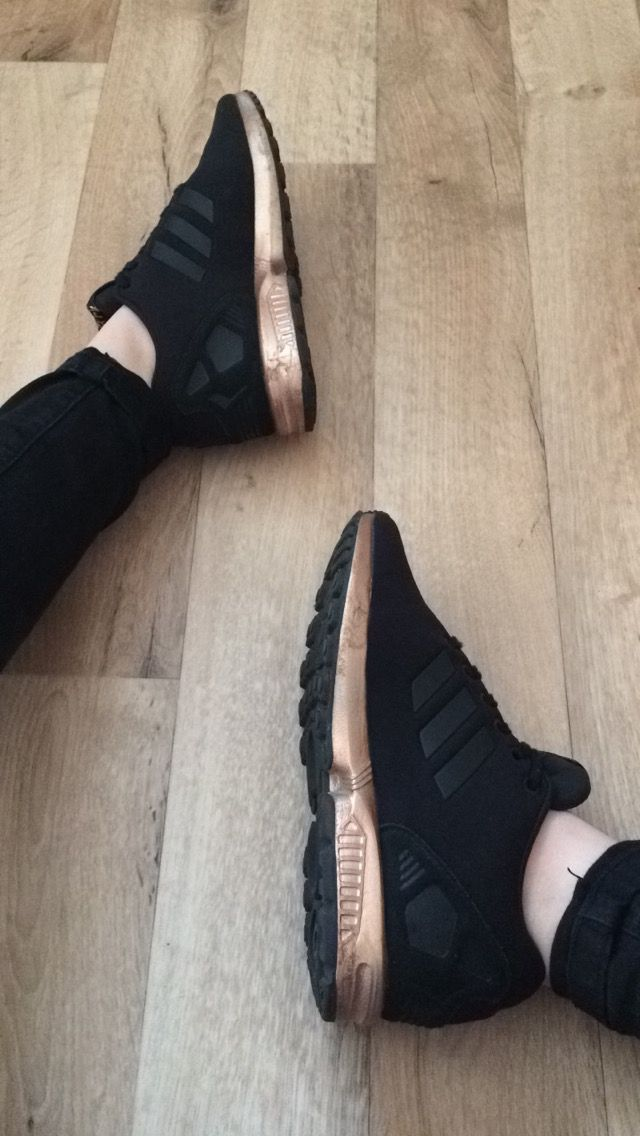 Black and rose Gold adidas zx flux ( @amazon )