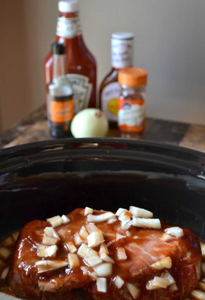 Slow Cooker BBQ Beef on a Bun