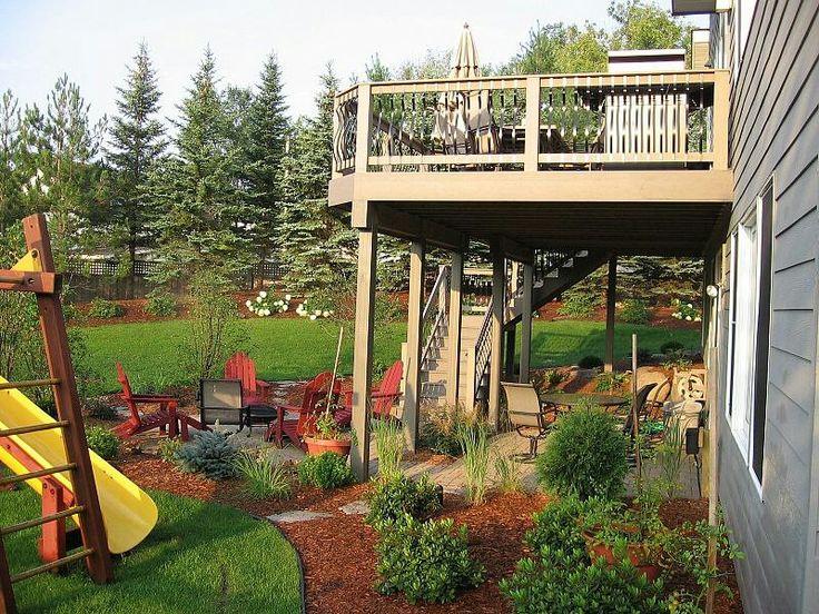 Landscaping under around deck deck ideas pinterest for Garden decking near me